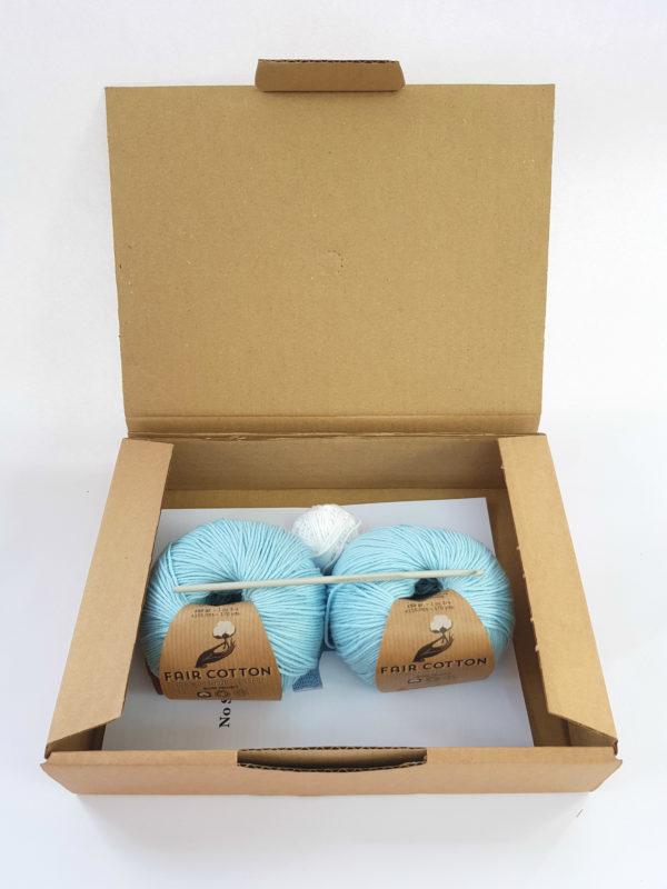 Organic cotton baby crochet kit