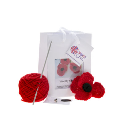 Poppy Brooch Crochet Kit