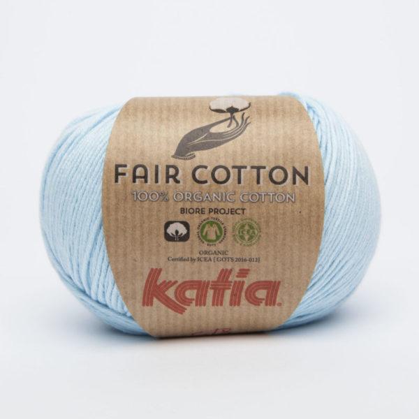 DK Fair Trade 100% Organic cotton yarn baby blue