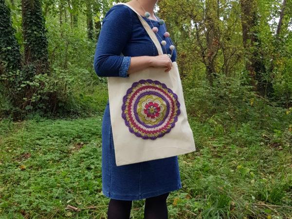 Learn to Crochet Mandala Bag kit