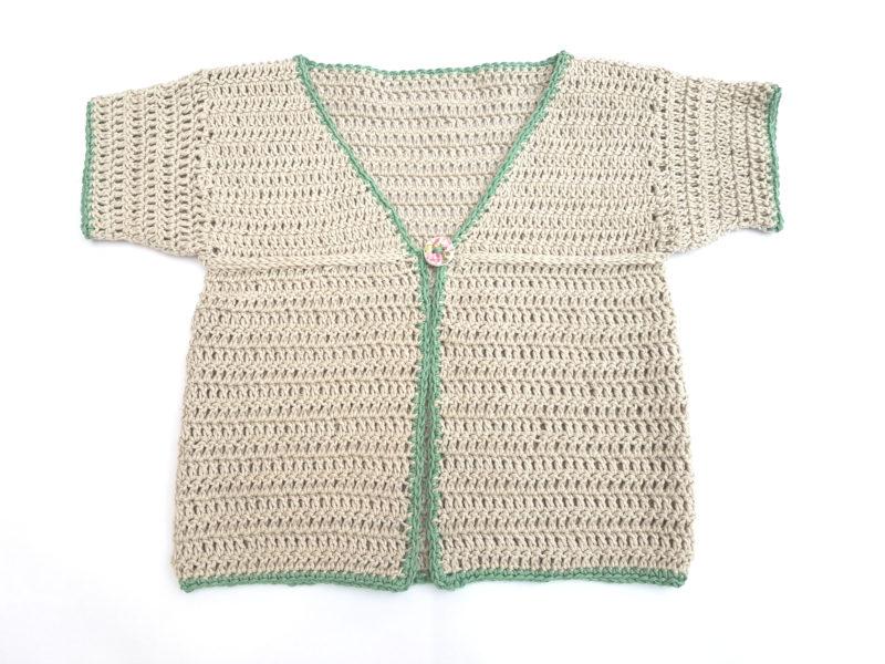 Organic Cotton Baby Cardigan Fawn