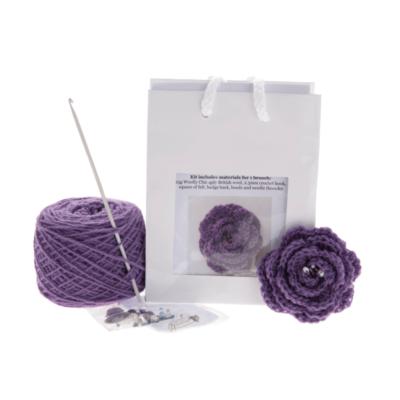 Woolly Chic Flower Brooch Kit