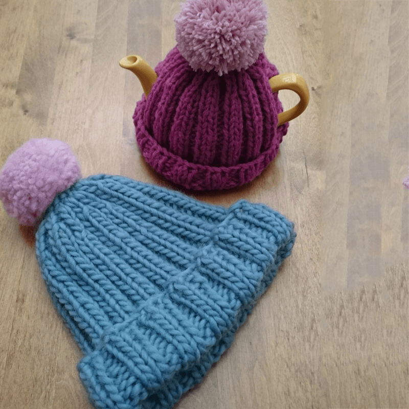 Bobble Hat Knitting Pattern by Woolly Chic Designs 4445b2b4b7c
